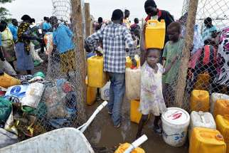 At his general audience Feb. 22, Pope Francis appeals for aid as famine strikes South Sudan.