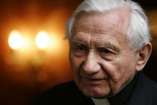 Father Georg Ratzinger, the older brother of Emeritus Pope Benedict XVI, at his home in Regensburg, Germany, on April 20, 2005. Ratzinger is accused of turning a blind eye to abuse during his time running the prestigious Domspatzen choir.