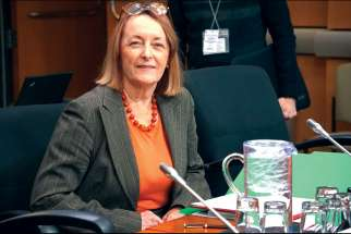 Centre for Medicine, Ethics and Law founding director Margaret Somerville at the committee on physician-assisted dying.