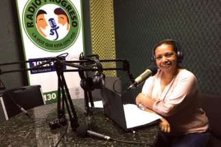 Leticia Castellanos works as a journalist with Radio Progreso.