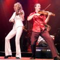 Cape Breton fiddler Natalie MacMaster, left, with her husband Donnell Leahy. MacMaster, a Catholic, will receive an honorary doctor of divinity degree from the Atlantic School of Theology May 4.