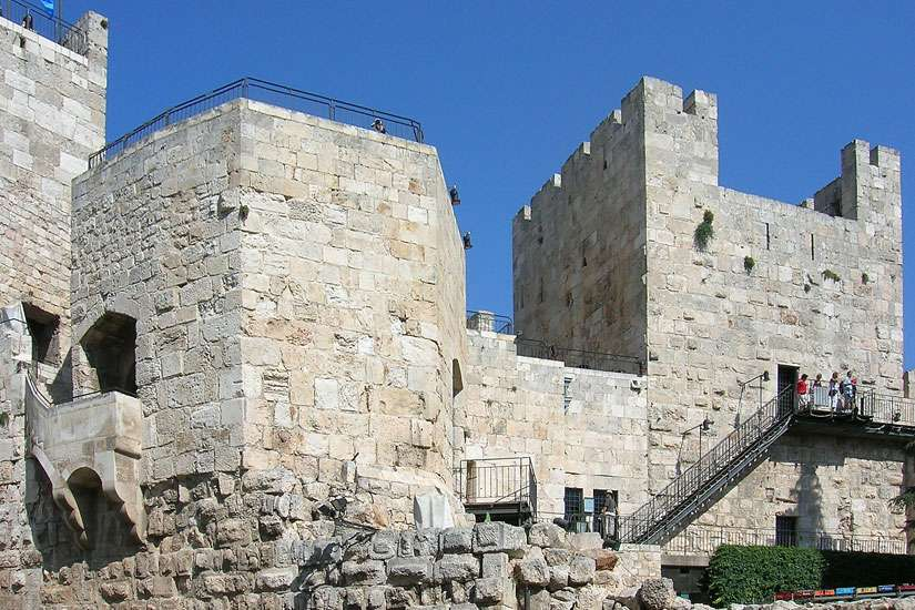The Tower of David in Jerusalem.