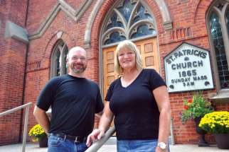 Trevor Carter and Laurie Patchell are members of the 150th anniversary committee at St. Patrick's parish in Phelpston, Ont., not far from the shores of Georgian Bay.