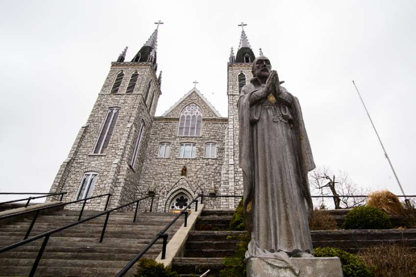 A statue of St. Jean de Brebeuf at Martyrs' Shrine at Midland, Ont.
