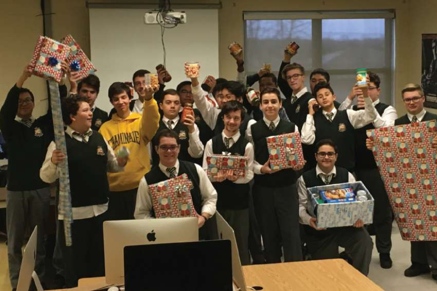 Anthony Perotta's Grade 10 Communications Technology students take part in the annual Wrapping Day.