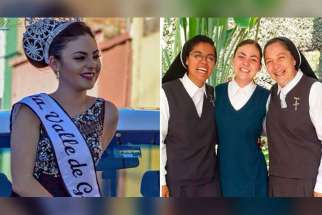 Esmeralda Solís Gonzáles, who won the beauty crown in her hometown of Valle de Guadalupe in 2016, decided to follow her calling and join the Poor Clare Missionaries of the Blessed Sacrament.