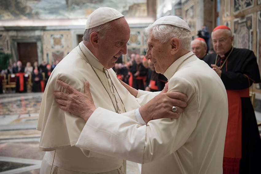 "A letter from retired Pope Benedict XVI to Msgr. Dario Vigano, prefect of the Vatican Secretariat for Communications, was released by the Vatican March 12. The retired pope defends Pope Francis in the letter, which was written as a promotion for a book series titled, ""The Theology of Pope Francis."""
