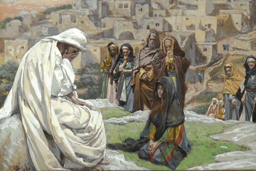 "The ""grace of tears"" has been cherished throughout the Christian tradition. Jesus Himself was not immune to tears, as seen in James Tissot's Jesus Wept."
