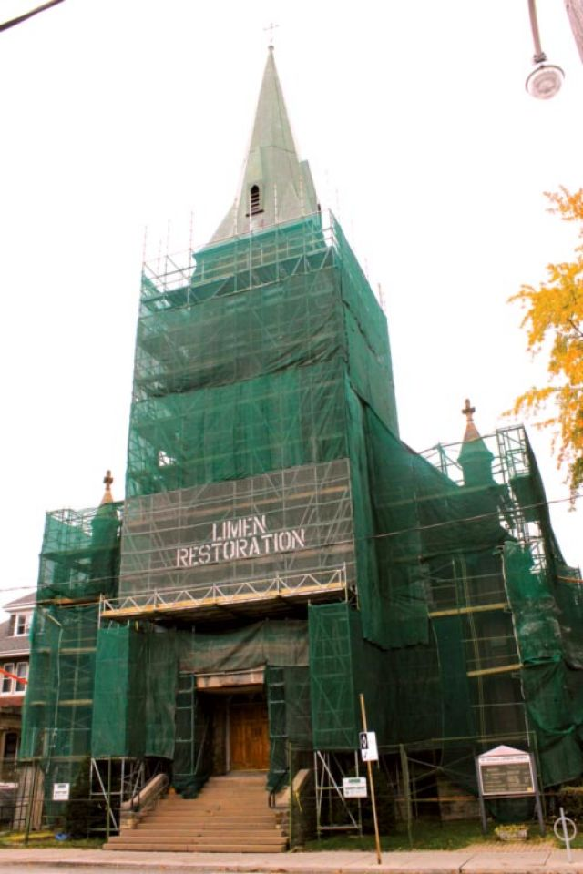 St. Cecilia's is being repaired thanks to bequests from parishioners.