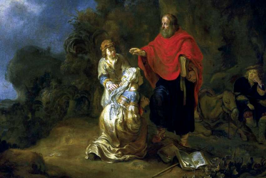Elisha and the Shunammite Woman (1649) by Gerbrand van den Eeckhout.