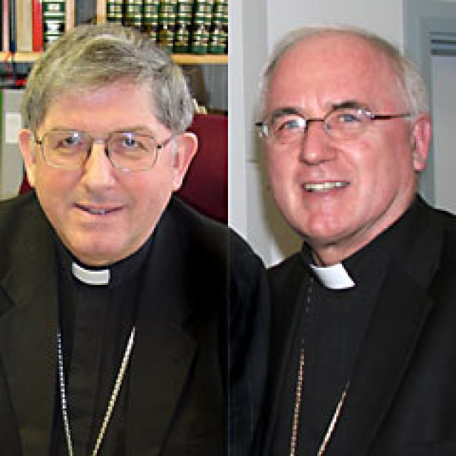 Toronto Archbishop Thomas Collins and Ottawa's Archbishop Terrence Prendergast, S.J.