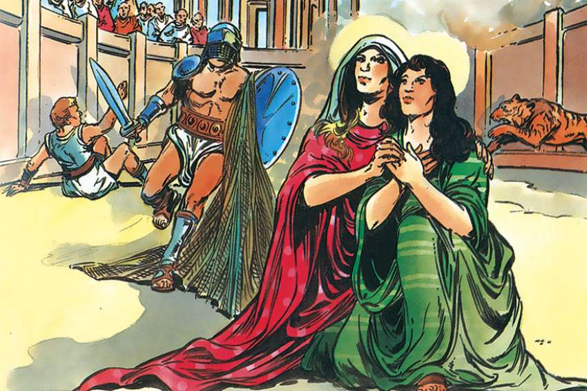 Bob Brehl writes about the horrific but inspiring martyr story of Sts. Perpetua and Felicitas, the patron saints of mothers and expectant mothers.