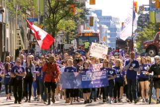 Hundreds participate in Ottawa's first Freedom Walk to highlight efforts against human trafficking.