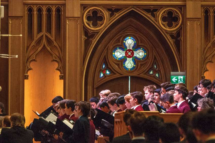 When the boys from St. Michael's Choir School perform in the cathedral, they are singing sacred music in its proper home.