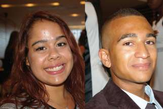 Amanda, left, and Sheldon are two of the recipients of Hope for Children Fund scholarships to further their education.