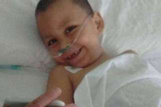Three-year-old Nino Martin Chain survived an accidental fall from the nineth floor June 7.