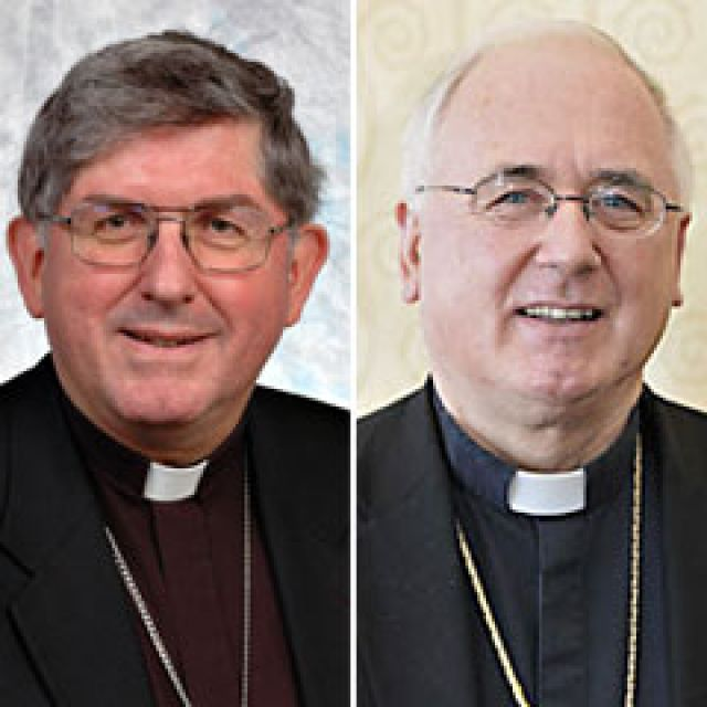 Toronto Archbishop Thomas Collins and Ottawa Archbishop Terrence Prendergast.